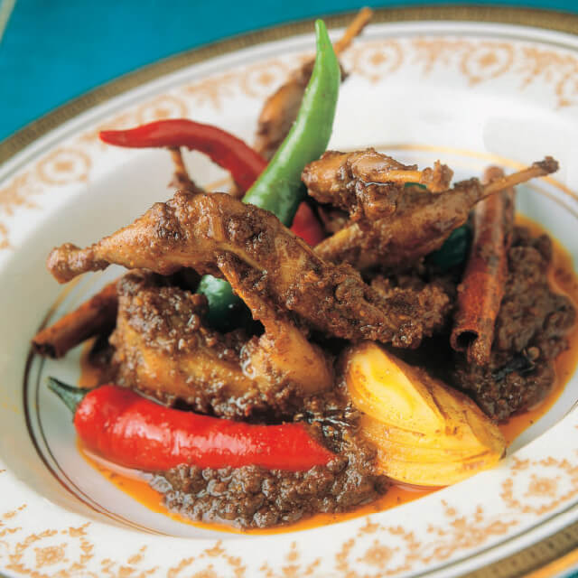 Fried Quail in Spicy Sauce